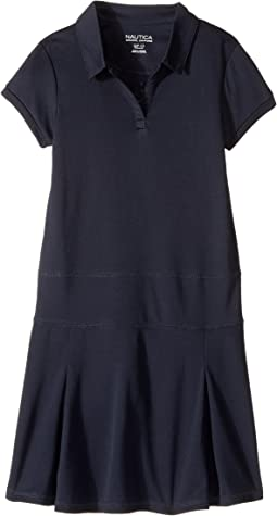 Short Sleeve Knit Performance Dress (Big Kids)