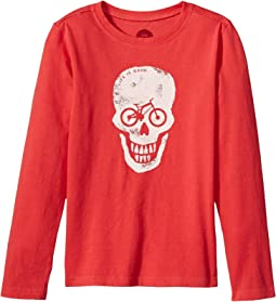 Bike Skull Long Sleeve Crusher Tee (Little Kids/Big Kids)