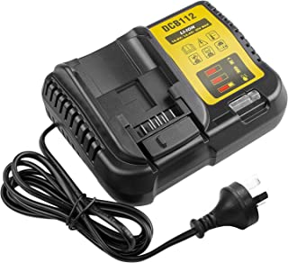DCB112 12V -20V Lit-ion Battery Charger for Dewalt DCB206 DCB205 DCB204 DCB203 DCB201 DCB120 DCB127, Replace for DCB107 DC...