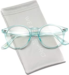 WearMe Pro - Clear Lens Semi Transparent Clear Frame...