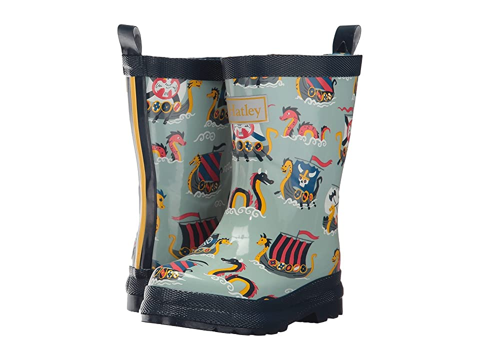 Hatley Kids Vikings Rain Boots (Toddler/Little Kid) (Blue) Boys Shoes