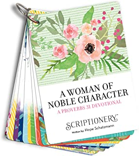 Proverbs 31 Woman Scripture Card Devotional - A Woman of Noble Character (Bible Study, Scripture Memory)