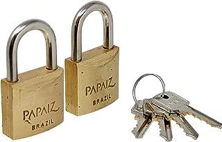 Cadeado De Latão, Papaiz, CR30, 2 Unidades