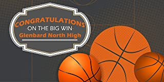 Congratulations Basketball Personalized Banner Party Decoration