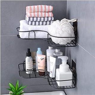 SLEEC 2 Pack Shower Organiser, Bathroom Shelves Wire Shower Corner Caddy Shower Shelf Bathroom Caddy Shelf No Drilling sho...