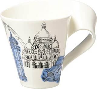 New Wave Caffé Cities of the World Mug Paris By Villeroy & Boch - Premium Porcelain - Made in Germany - Dishwasher and Microwave Safe - Gift Boxed - 11.75 Ounce Capacity