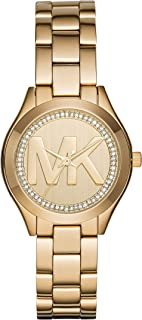 Michael Kors Women's Mini Slim Runway Goldtone Three-Hand Watch