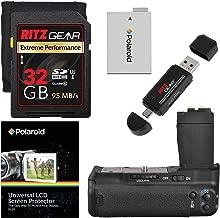 Meike XBGCT2 Digital Power Battery Grip for Canon EOS Rebel T5i, T4i, T3i & T2i, Ritz Gear Extreme SD 32GB U3 Memory Card, Screen Protector, Ritz Gear Card Reader, and Accessory Bundle