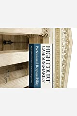 High Court Case Summaries on Professional Responsibility (Keyed to Gillers) Kindle Edition