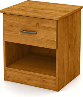 South Shore Libra 1-Drawer Nightstand-Country Pine