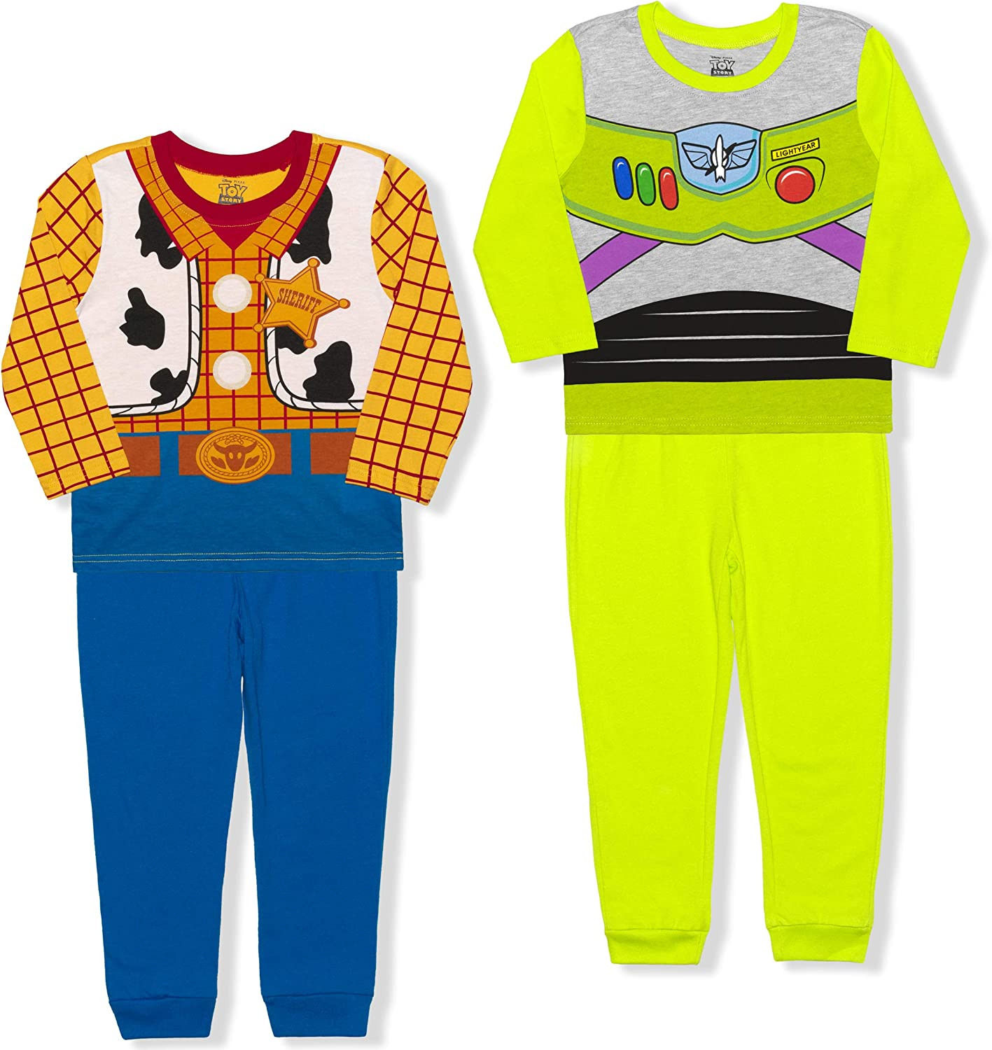 Disney Toy Story Boy's4-PieceWoody and Buzz Lightyear Pant Sets