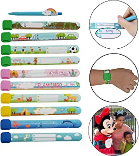 Child ID Safety Wristband- Waterproof Kids Reusable Bracelet by Fivepeans (Multi-10pcs)