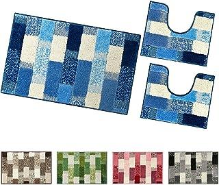 Linnea Parure da Bagno 6 Pezzi Pure Squares Nero 550 g//m2