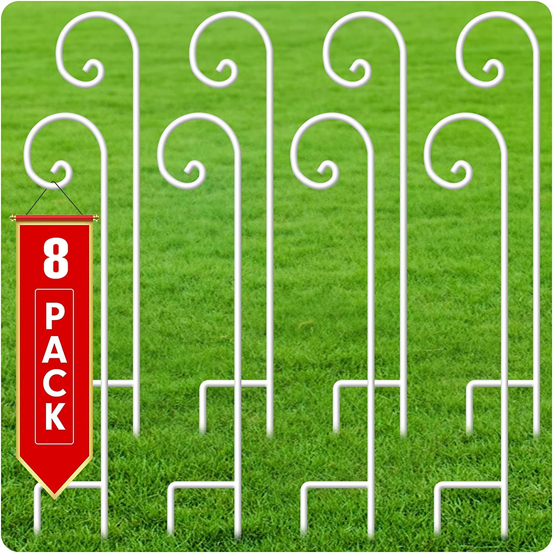 BEAU JARDIN low-pricing 8 Pack Shepherd Ranking TOP12 Shepards Hooks 48 Solid M 5in 2 Inch