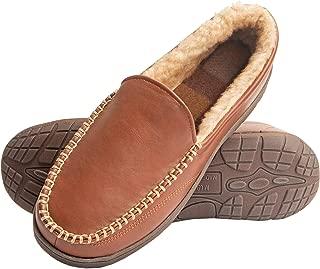 Mens Memory Foam Slip On Indoor Outdoor Venetian Moccasin Slipper Shoe