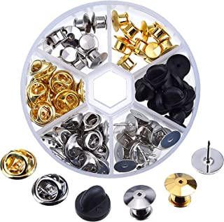 eBoot 65 Pieces 3 Styles Clutch Pin Backs with 20 Pieces Tie Tacks Blank Pins