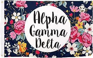 Alpha Gamma Delta Floral Pattern Letter Sorority Flag Banner Greek Letter Sign Decor Alpha Gam