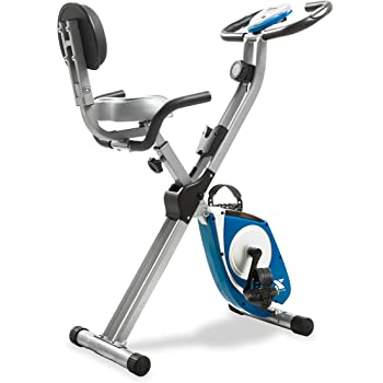 XTERRA Fitness FB350 Folding Exercise Bike, Silver