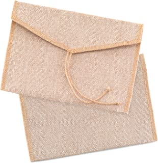 Burlap Envelope 8 1/4