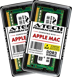 A-Tech 16GB Kit (2X 8GB) DDR3 1333MHz PC3-10600 204-pin SODIMM for Apple MacBook Pro (Early/Late 2011) - iMac (Mid 2010, 27