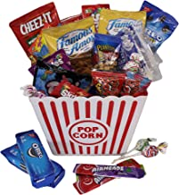 MOVIE NIGHT GIFT BASKET 30 Of Your Favorite Popcorn, Candy Cookies Crackers Perfect Birthday Box Holiday Surprised College Care Package Kids Party Family Movie Night Or A Special Date Night