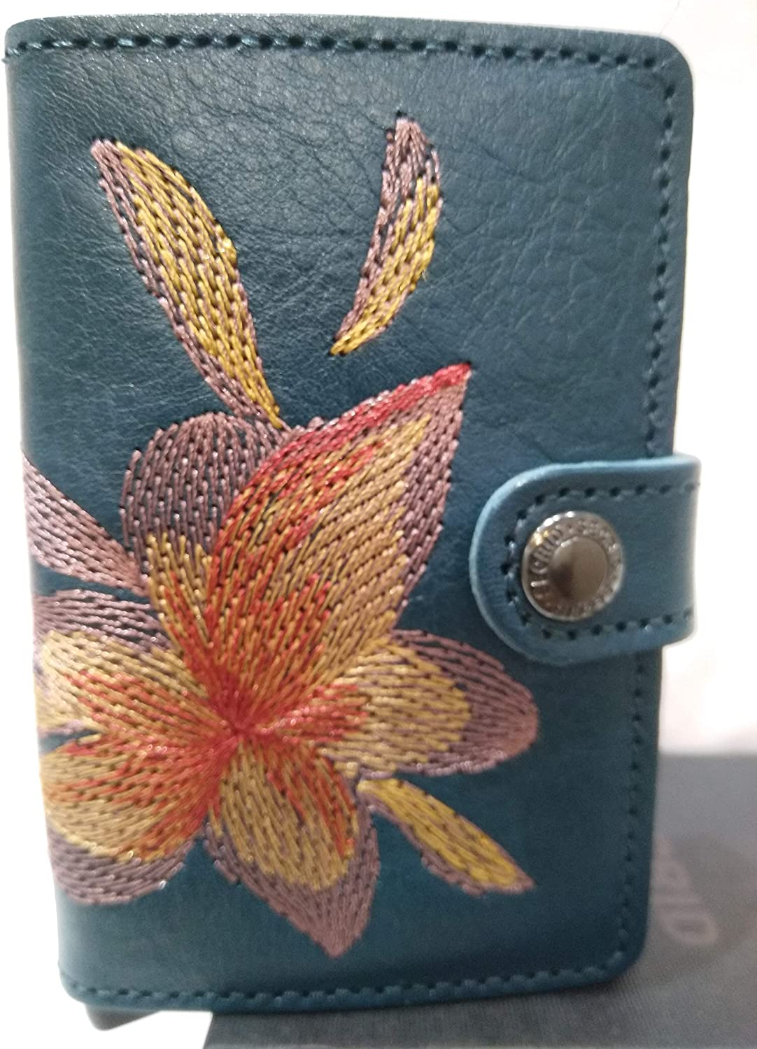 Secrid  Secrid Mini Wallet Stitch Embroidered VegetableTanned leather