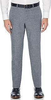 Perry Ellis mens Slim Fit End-On-End Linen Suit Pant Dress Pants
