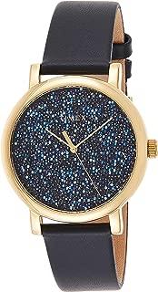 Timex Women's Quartz Watch, Analog Display and Leather Strap TW2R98100