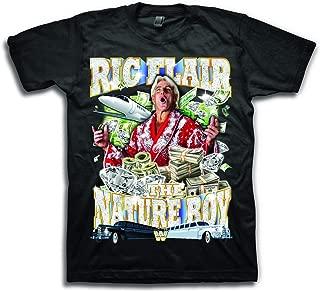 Mens RIC Flair Shirt – The Nature Boy Wooooo! Superstar Tee – 16X World Wrestling Champ T-Shirt