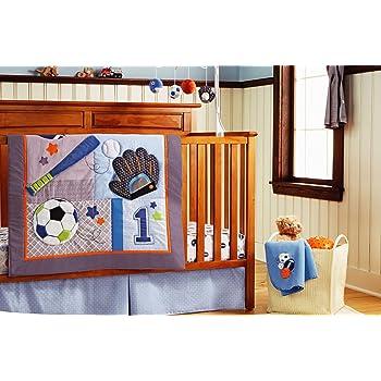 HESEAM Baby boy 10 Pieces Baby Boy Sport Crib Bedding Set
