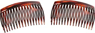 Caravan Side Comb Made in France of Cellulid Aceteae in Tortoise Shell Pair, 0.5 Ounce