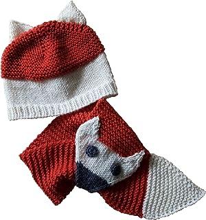 Sciarpa e cappello volpe, sciarpa volpe, set sciarpa cappello, sciarpa bambini, sciarpa fatta a mano, cappello fatto a man...