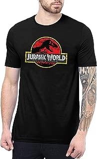 Jurasic Distress Logo Mens Black T Shirt