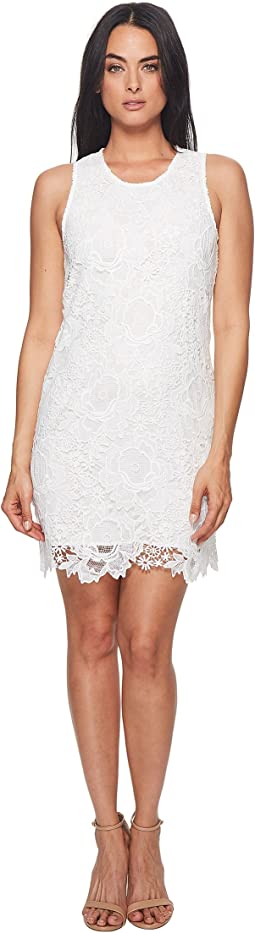 Sherrell Scoop Neck Sleeveless Lace Dress