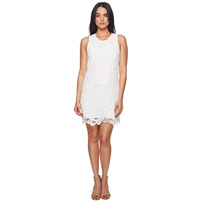 CATHERINE Catherine Malandrino Sherrell Scoop Neck Sleeveless Lace Dress (Bright White) Women