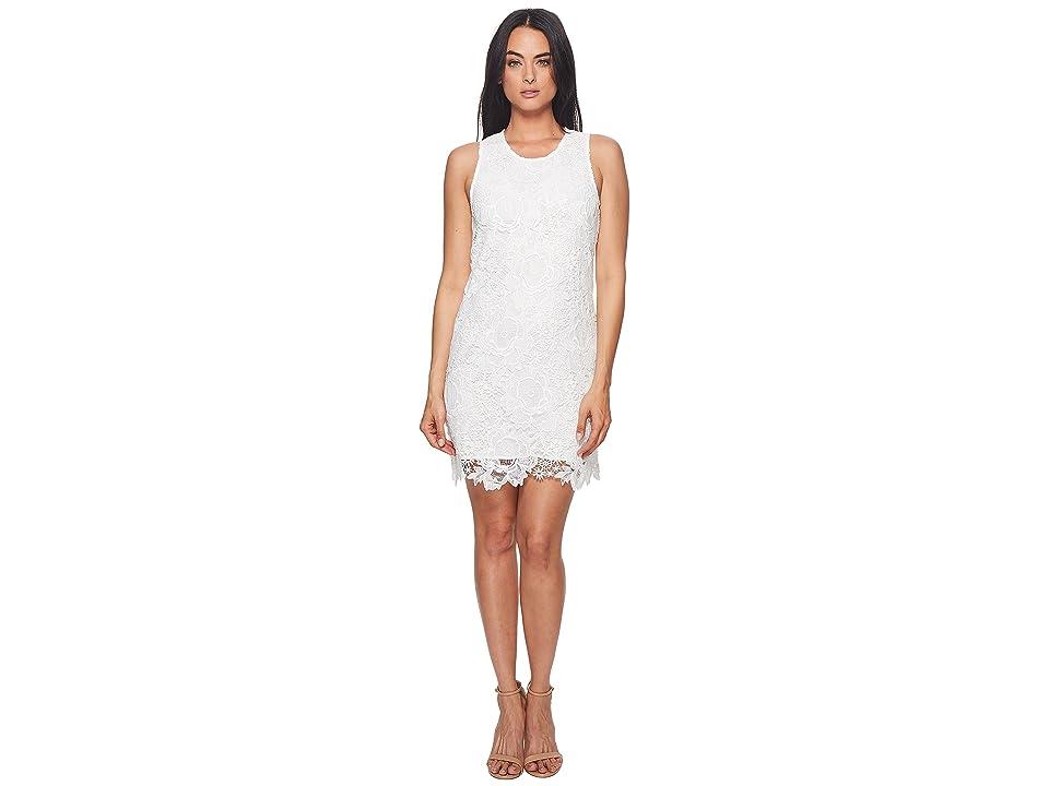 CATHERINE Catherine Malandrino Sherrell Scoop Neck Sleeveless Lace Dress (Bright White) Women