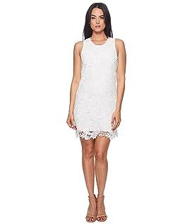 Sherrell Scoop Neck Sleeveless Lace Dress