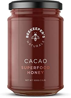 Superfood Cacao Honey by Beekeeper's Naturals | 500g of 100% Raw, Sustainably Sourced Enzymatic Honey | Raw Ecuadorian Cacao | Gluten Free & Nut Free