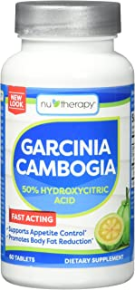 NuTherapy Garcinia Cambogia, 50% Hydroxycitric Acid Tablets, 60 Count