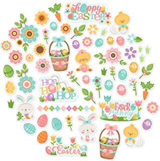Paper Die Cuts - Easter Fun - Over 60 Cardstock Scrapbook Die Cuts - by Miss Kate Cuttables
