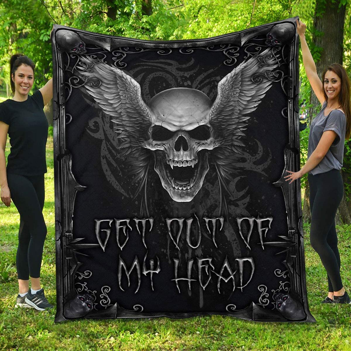 Skull Long Beach Mall and Wings Quilt - Get Out Free shipping anywhere in the nation for Heart My Gift of Hal