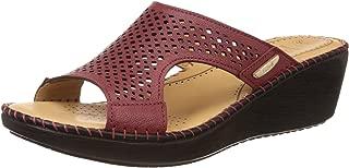 Scholl Women's Laser Mule Wedge Leather Slippers