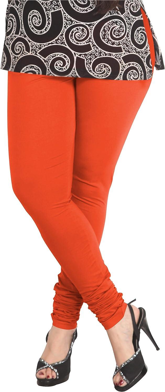 ladyline 4-Way Stretch Cotton-Stretch Plain Leggings Churidar Long Yoga Pants