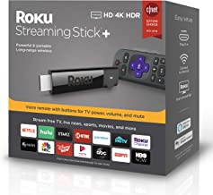 Roku Streaming Stick+ | HD/4K/HDR Streaming Device with Long-range Wireless and Voice Remote with TV Controls (updated for 2019)