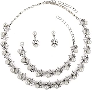 Best rhinestone and pearl necklace Reviews