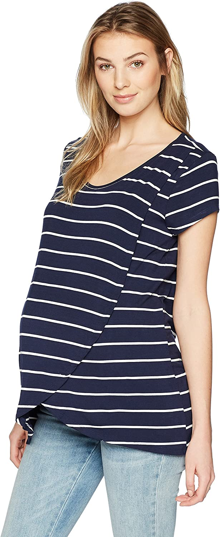 Everly Grey Womens Jonelle Short Sleeve Maternity & Nursing FlyAway Top Shirt