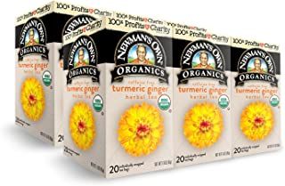 Newman's Own Organics Organics English Tea, Turmeric Ginger, 6 Count. Packaging May Vary.