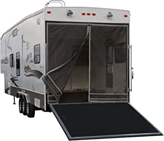 Classic Accessories 79994 RV Toy Hauler Trailer Tailgate Bug/Shade Adjustable Screen, Steel Frame,Black/Gray