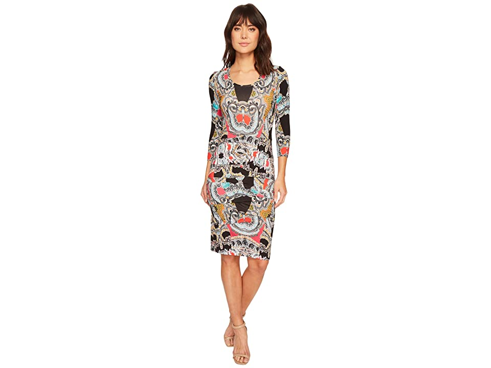 Nicole Miller Dakota Tidal Pleat Dress (Multi Colored) Women