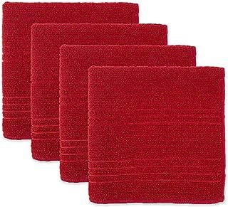 DII Toalhas e panos de limpeza multiuso de microfibra, vermelho (4), pano de louça, 4 peças